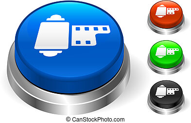El icono del carrete en el botón de Internet