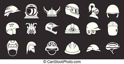 El icono del casco marca vector gris