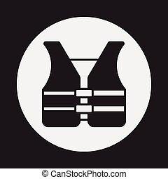 El icono del chaleco de seguridad