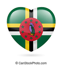 El icono del corazón de Dominica