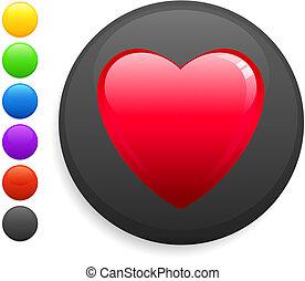 El icono del corazón en el botón de internet