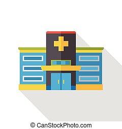 El icono del edificio del hospital