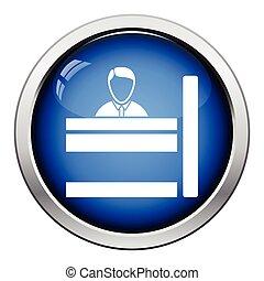 El icono del empleado del banco