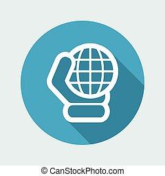 El icono del globo