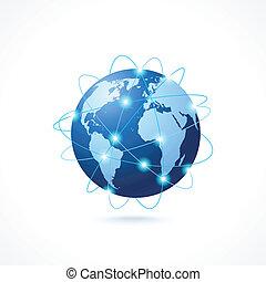 El icono del globo de la red