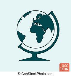 El icono del globo está aislado