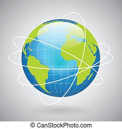 El icono del globo terrestre