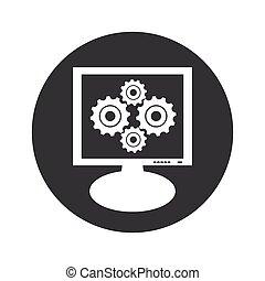 El icono del monitor de velocidad