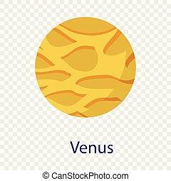 El icono del planeta Venus, al estilo plano