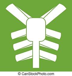 El icono del tórax humano verde