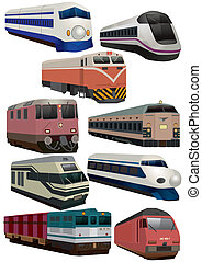 El icono del tren Cartoon