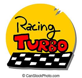 El icono del turbo cartón