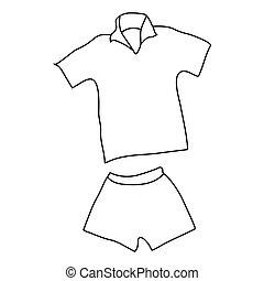 El icono del uniforme del hombre del tenis, estilo esbozo