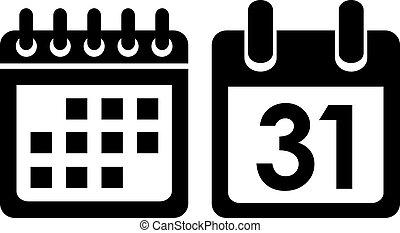 El icono del vector de Calendar