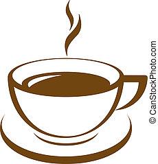 El icono del vector de la taza de café