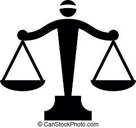 El icono del vector de las escalas de la justicia