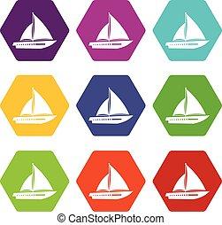 El icono del yate marca el color hexahedron