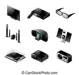 El icono electrónico, TV y audio