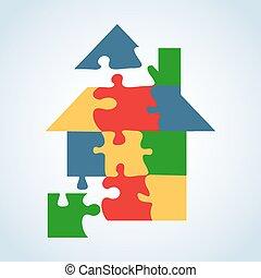 El icono inmobiliario puso forma de jigaw