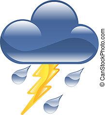 El icono meteorológico de los relámpagos