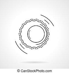 El icono vector de vectores de astrología