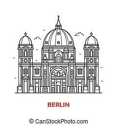 El icono vectorial de Berlín