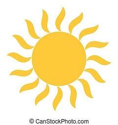 El icono vectorial de luz solar