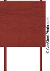 El ingenio de los carteles de madera roja