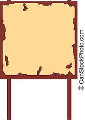 El ingenio del cartel de madera rojo