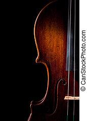El instrumento de la música violín