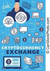 El intercambio de criptomonedas en línea, Bitcoin Blockchain