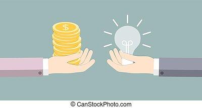 El intercambio de ideas sobre el dinero