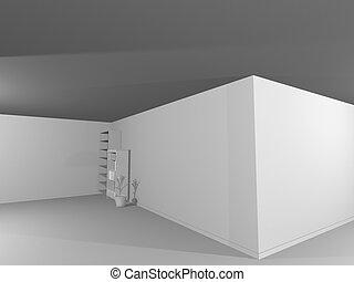 El interior blanco