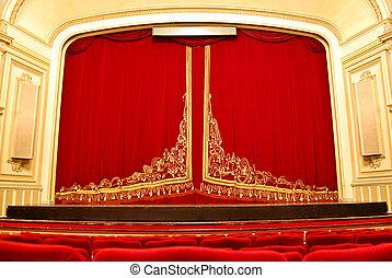 El interior de la casa de ópera