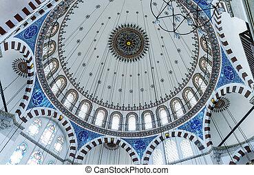 El interior de la mezquita, Estambul