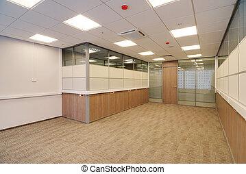 El interior de la oficina común