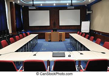 El interior de la sala de conferencias