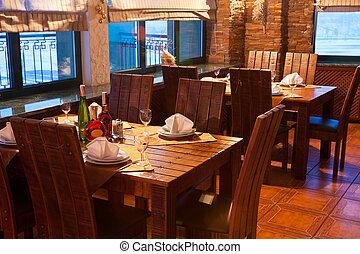 El interior de un restaurante