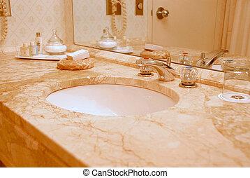 El interior del baño