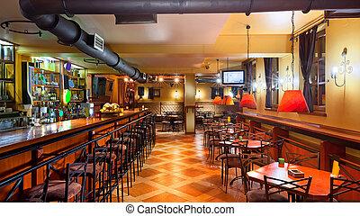El interior del pub