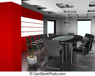 El interior moderno de la oficina 3d de imagen