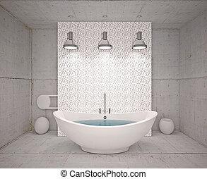 El interior moderno del baño
