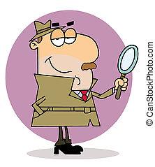 El investigador de caricaturas caucásicas