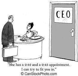 El jefe tiene poco tiempo para reunirse