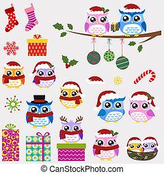 El juego de Navidad de la familia Owl