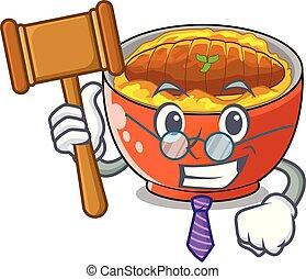 El juez Katsudon está servido en el plato de mascotas