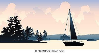 El lago del barco