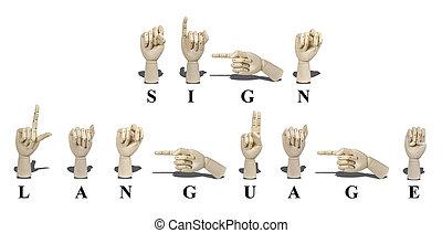 El lenguaje de signos en americano