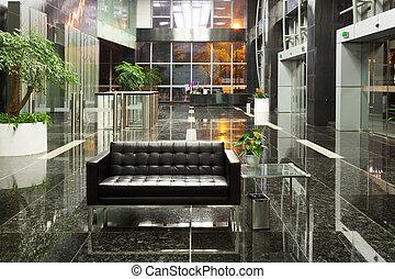 El lobby de la oficina moderna