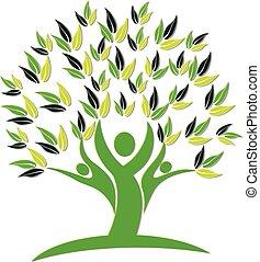 El logo de ícono de la naturaleza